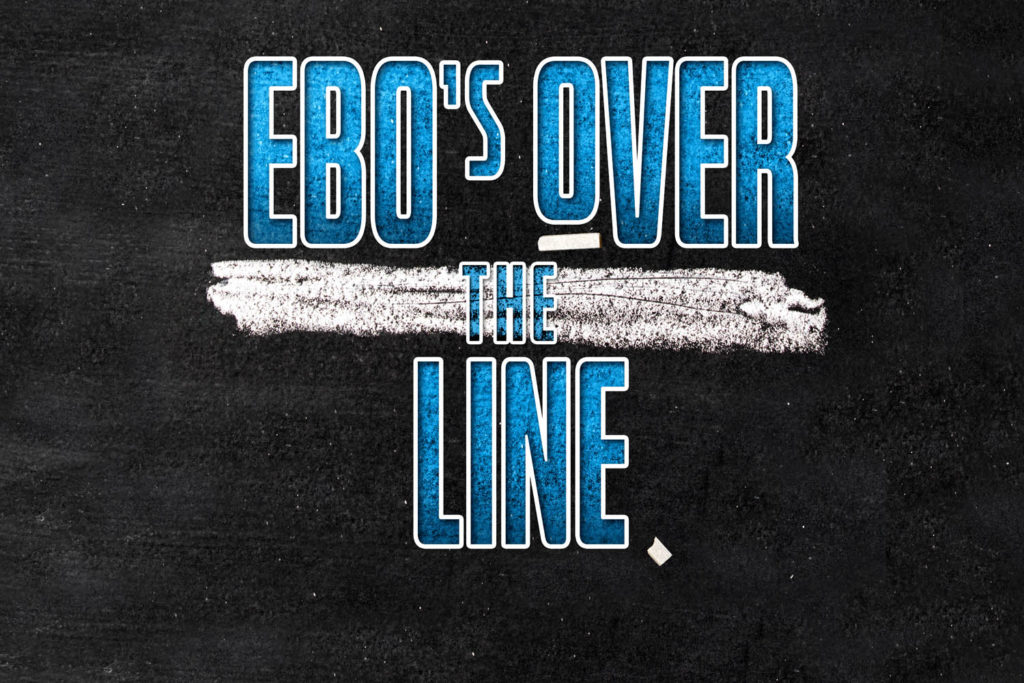 Ebo's over the line